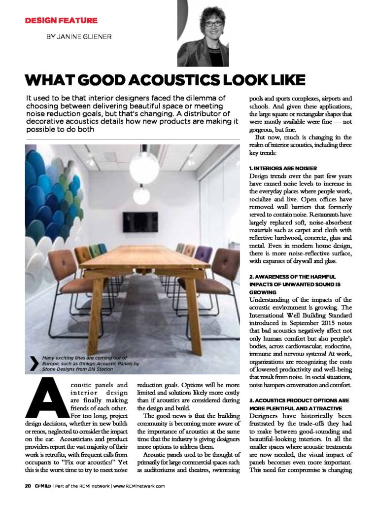 What Good Acoustics Look Like Design Feature Acoustics With Design