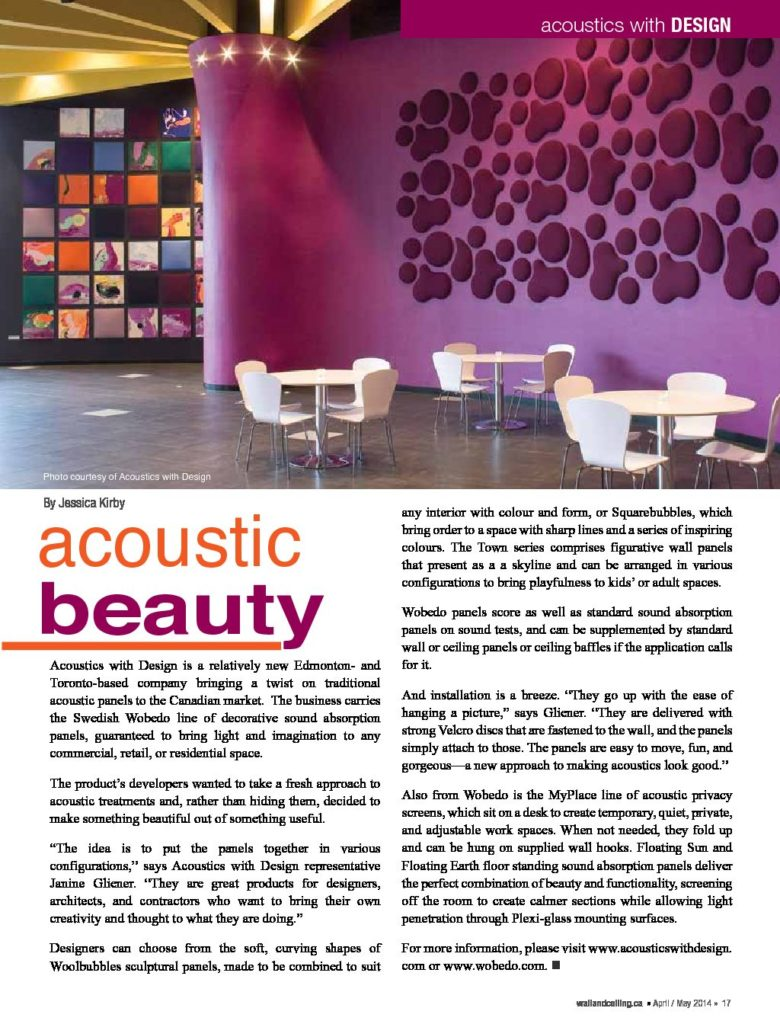 Acoustic Beauty Wallandceiling Ca Pdf 780x1024 Acoustics With Design
