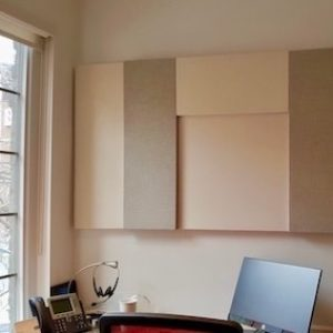 Artfully arranged acoustic panels benefit shared offices